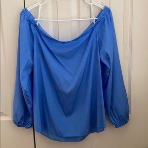 NWT Lily Pulitzer - Adria Silk Top - Bennet Blue